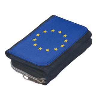 Patriotische Geldbörse mit Flagge der europäischen