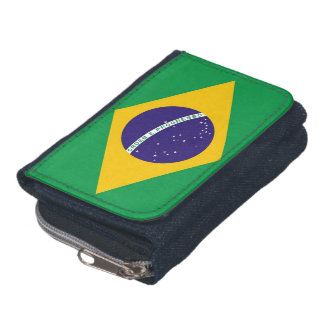 Patriotische Geldbörse mit Flagge von Brasilien