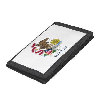 Patriotische Geldbörse mit Flagge von Illinois