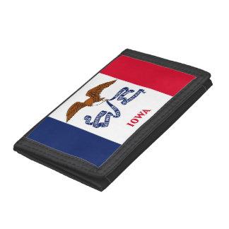 Patriotische Geldbörse mit Flagge von Iowa