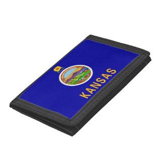 Patriotische Geldbörse mit Flagge von Kansas