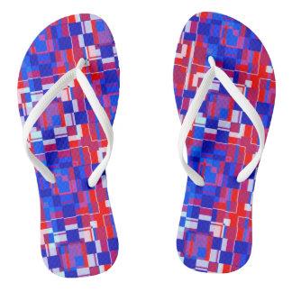 Patriotische Geometrie Flip Flops