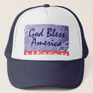 Patriotische Hüte für Juli 4. Truckerkappe