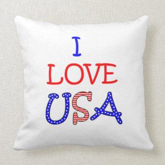 Patriotische i-Liebe USA Kissen