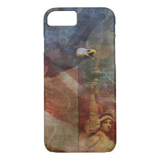 Patriotische iPhone 7 Muschel mit kahler iPhone 8/7 Hülle