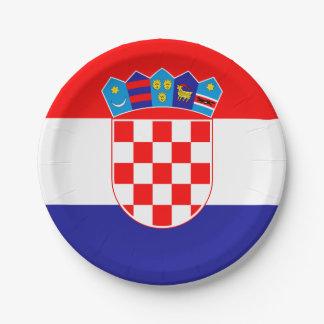 Patriotische kroatische Flagge Pappteller