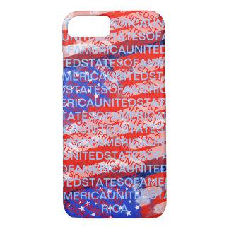 Patriotische Landesflagge USA iPhone 8/7 Hülle
