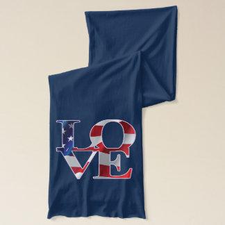 Patriotische Liebe Amerika Schal