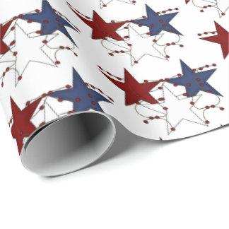 Patriotische mit Ziegeln gedeckte Partyverpackung Einpackpapier
