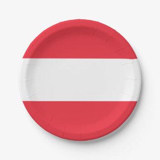 Patriotische österreichische Flagge Pappteller