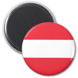 Patriotische österreichische Flagge Runder Magnet 5,7 Cm