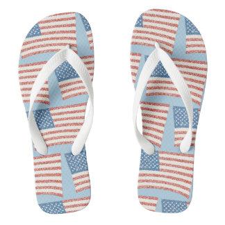 Patriotische Pointillism Flip Flops