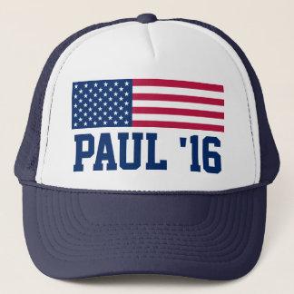 Patriotische Rand-Paulamerikanische Flagge 2016 Truckerkappe