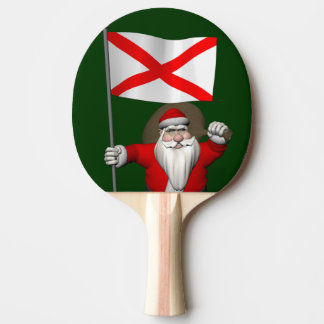 Patriotische Sankt mit Fahne von Alabama Tischtennis Schläger