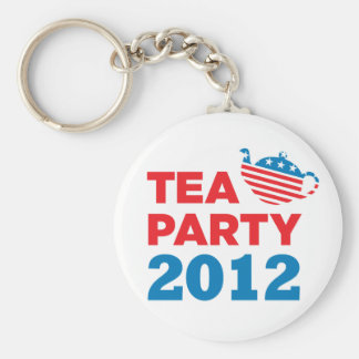 Patriotische Schlüsselkette des Tee-Party-2012 Standard Runder Schlüsselanhänger