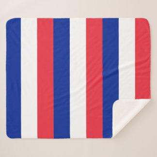 Patriotische Sherpa Decke mit Frankreich-Flagge Sherpadecke