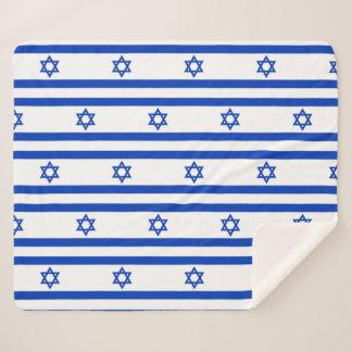 Patriotische Sherpa Decke mit Israel-Flagge Sherpadecke