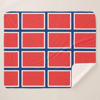 Patriotische Sherpa Decke mit Norwegen-Flagge Sherpadecke