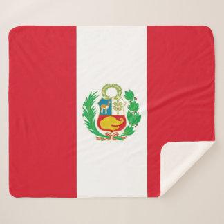Patriotische Sherpa Decke mit Peru-Flagge Sherpadecke
