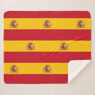 Patriotische Sherpa Decke mit Spanien-Flagge Sherpadecke