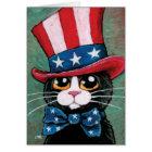 Patriotische Smokings-Katze   glücklich Juli 4. Karte