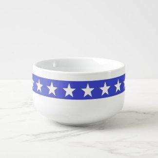 Patriotische Stern-Suppen-Tasse Große Suppentasse