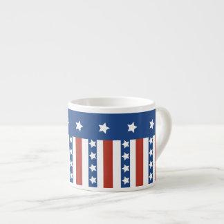 Patriotische Sterne Stripes Freiheits-Flagge Juli Espressotasse