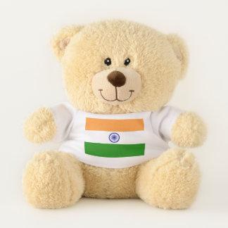 Patriotische Teddybärflagge von Indien Teddybär