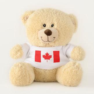 Patriotische Teddybärflagge von Kanada Teddybär
