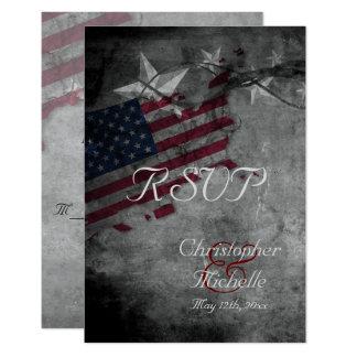Patriotische USA-Flagge mit den Sternen, die UAWG Karte