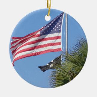 Patriotische Weihnachtsverzierung Keramik Ornament