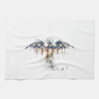 Patriotischer Adler, US/USA, TRAURIGE Flagge Geschirrtuch