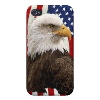 Patriotischer amerikanischer Weißkopfseeadler u. iPhone 4/4S Cover