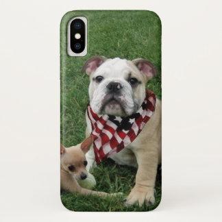 Patriotischer Bulldogge iPhone X Fall iPhone X Hülle