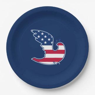 Patriotischer Entwurf 4. des Pappteller