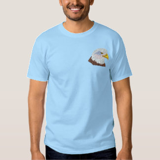 Patriotischer Flagge-Eagle-Kopf Besticktes T-Shirt