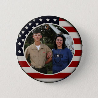 Patriotischer Flaggen-Foto-Knopf Runder Button 5,1 Cm
