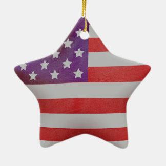 Patriotischer Flaggestern Keramik Stern-Ornament