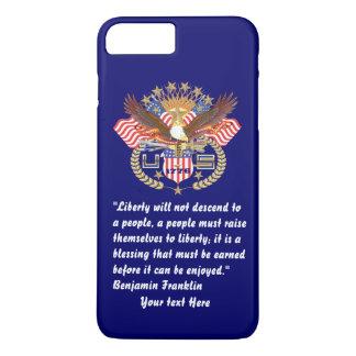 Patriotischer Freiheits-Friedenstiefes Marine-Blau iPhone 8 Plus/7 Plus Hülle