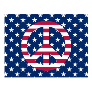 Patriotischer Frieden Postkarte