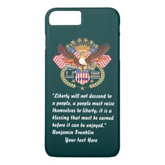 Patriotischer Friedenswald dunkelgrün iPhone 8 Plus/7 Plus Hülle