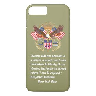 Patriotischer Friedenswald kakifarbig iPhone 8 Plus/7 Plus Hülle