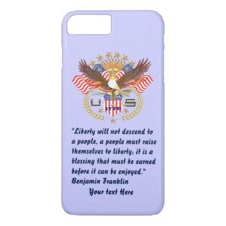 Patriotischer Friedenswald taubenblau iPhone 8 Plus/7 Plus Hülle