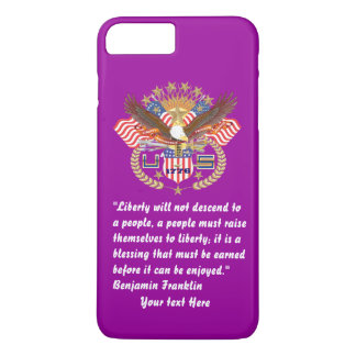 Patriotischer Friedenswald tiefviolett iPhone 8 Plus/7 Plus Hülle