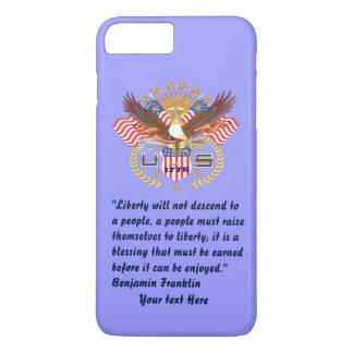 Patriotischer Friedenswaldblauer Pastell iPhone 8 Plus/7 Plus Hülle
