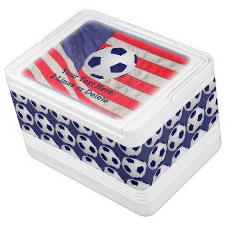 Patriotischer Fußball-Ball-Iglu cooler, Kühlbox