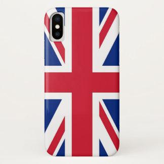 Patriotischer Iphone X Fall mit Königreich-Flagge iPhone X Hülle