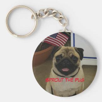 Patriotischer Mops Schlüsselanhänger