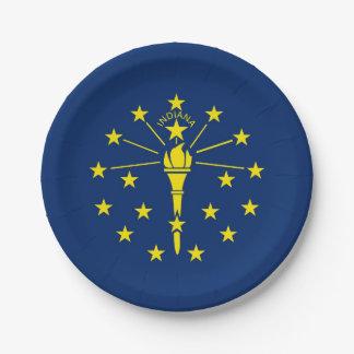 Patriotischer Pappteller mit Flagge von Indiana