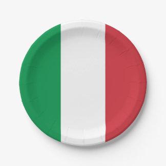 Patriotischer Pappteller mit Flagge von Italien